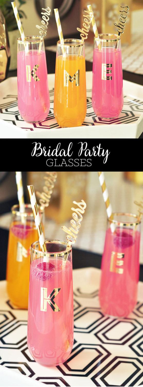 Best ideas about Unique Bachelorette Gift Ideas . Save or Pin Bachelorette Party Glasses Personalized Glasses Monogram Now.