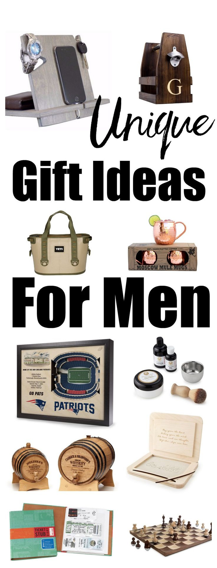 Best ideas about Unique Birthday Gift Ideas . Save or Pin Unique Gift Ideas for Men Christmas t ideas for men Now.