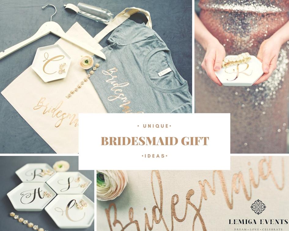 Best ideas about Unique Bridesmaid Gift Ideas . Save or Pin Unique and Fun Bridesmaid Gift Ideas Now.