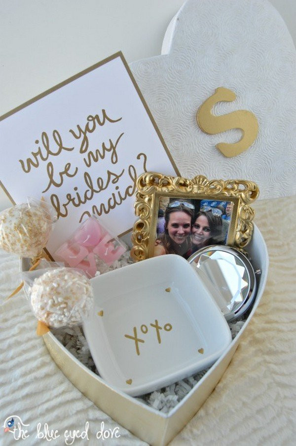 """Best ideas about Unique Bridesmaid Gift Ideas . Save or Pin 10 Creative Ways to Ask """"Will you be my bridesmaid """" Oh Now."""