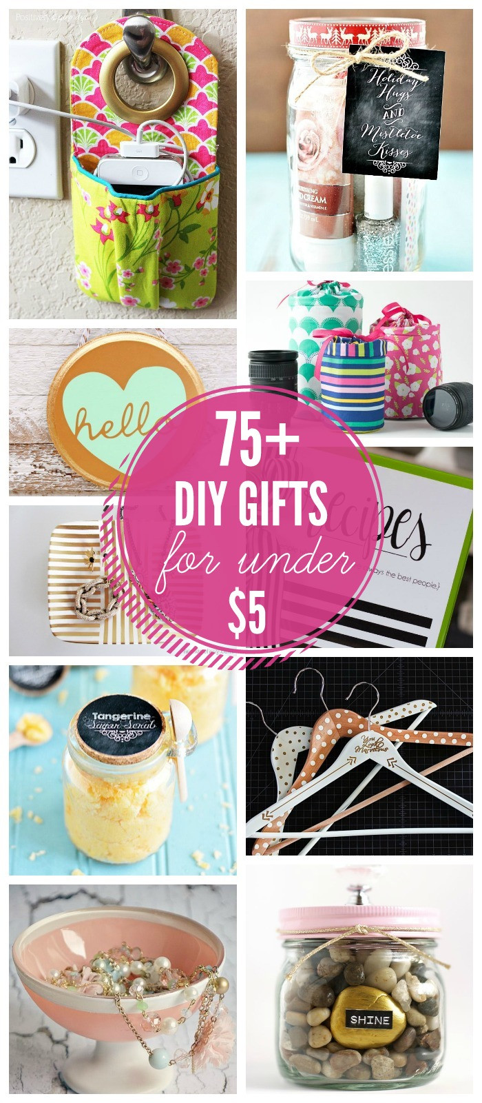 Best ideas about Unique DIY Gifts . Save or Pin 75 Gift Ideas under $5 Now.