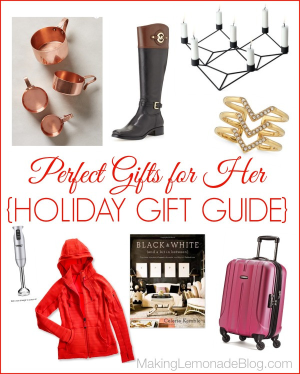 Best ideas about Unique Gift Ideas For Women . Save or Pin Great Gift Ideas for HER Holiday Gift Guide Now.