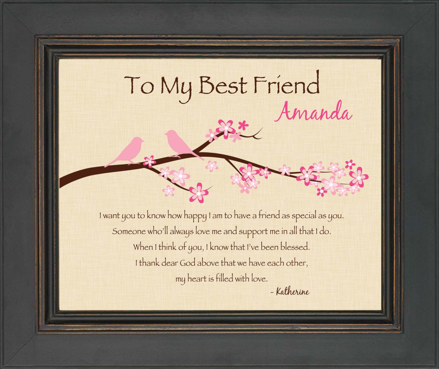 Best ideas about Unique Gifts For Friends Birthday . Save or Pin BEST FRIEND Gift Personalized print for Best Friend 8x10 Now.