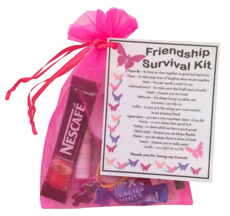 Best ideas about Unique Gifts For Friends Birthday . Save or Pin Details about Friendship BFF Best Friend Survival kit Now.