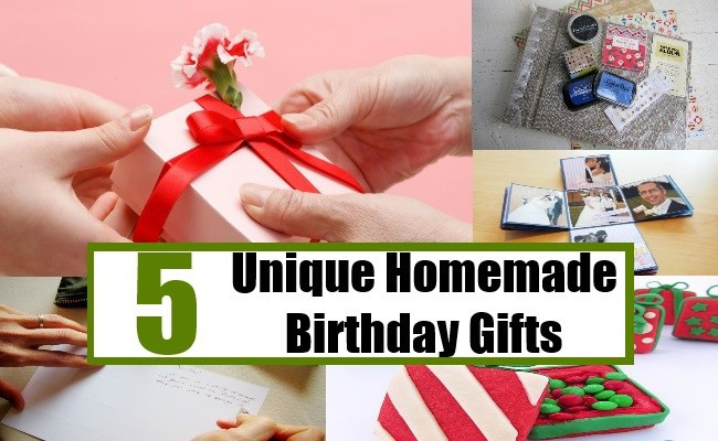 Best ideas about Unique Gifts For Friends Birthday . Save or Pin 5 Unique Homemade Birthday Gifts Creative Homemade Now.