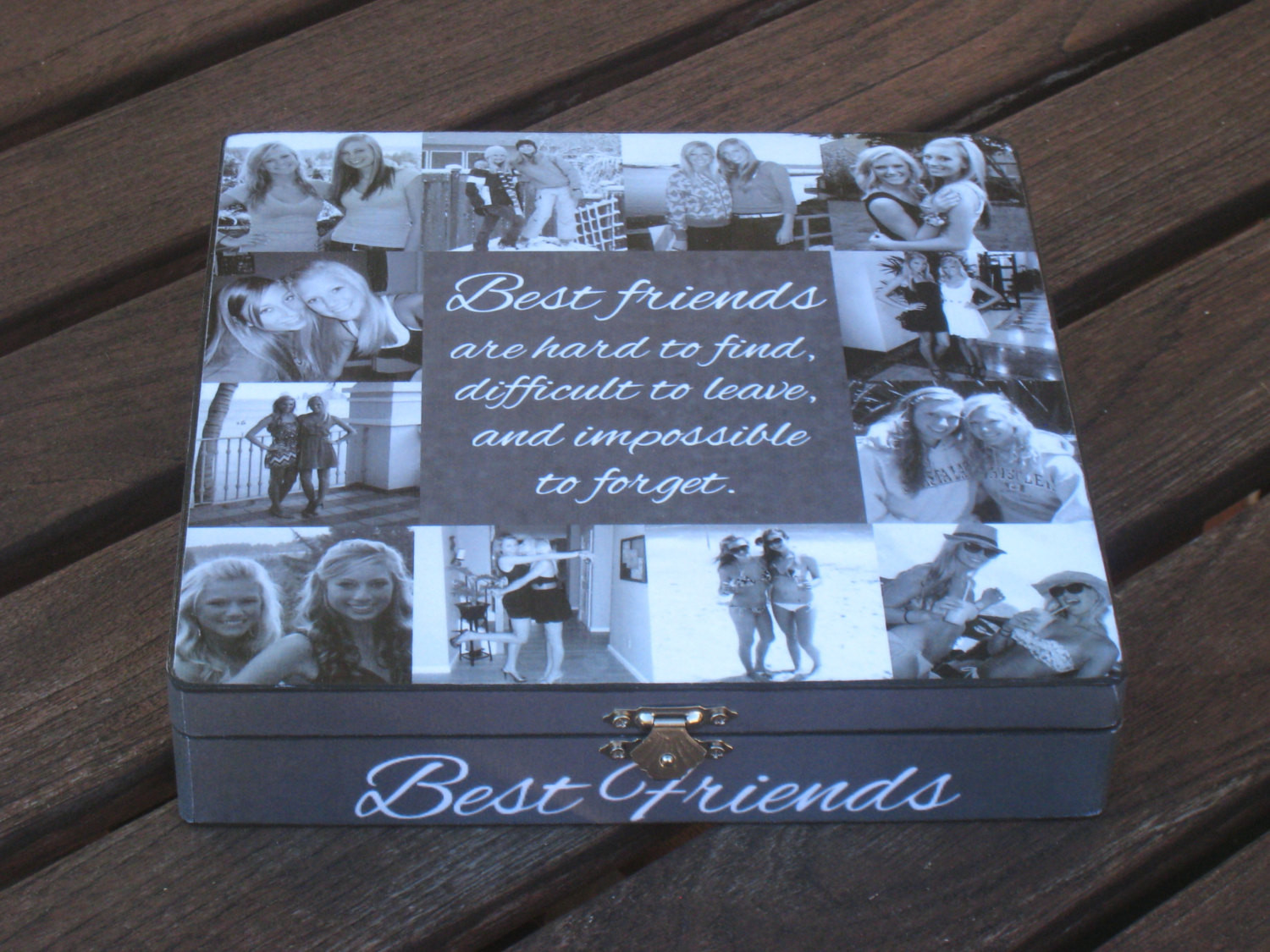 Best ideas about Unique Gifts For Friends Birthday . Save or Pin Best Friends Collage Keepsake Box Unique Maid of Honor Now.