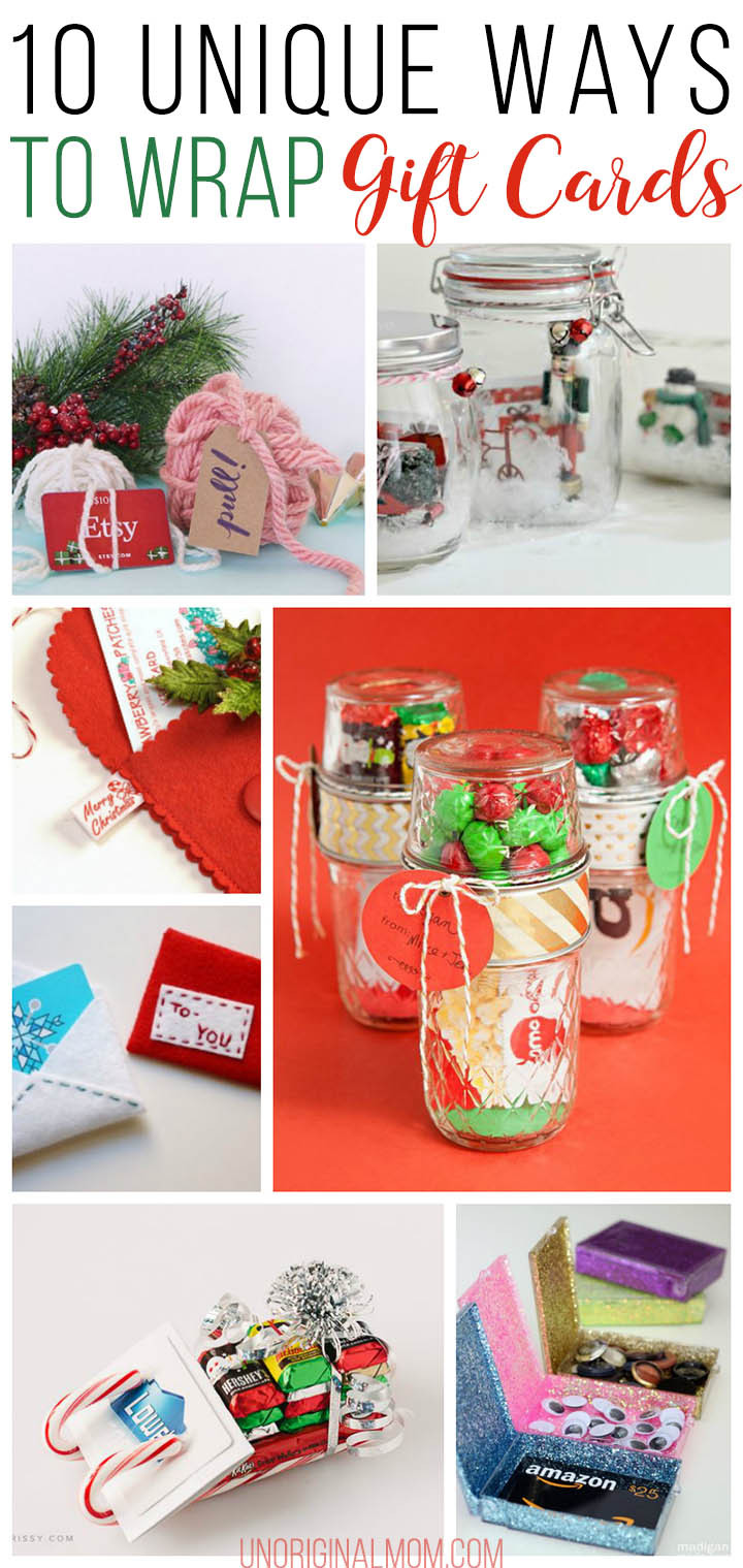 Best ideas about Unique Holiday Gift Ideas . Save or Pin 10 Unique Gift Card Wrapping Ideas unOriginal Mom Now.