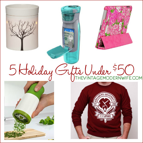 Best ideas about Unique Holiday Gift Ideas . Save or Pin 5 Unique Holiday Gift Ideas under $50 The Vintage Modern Now.