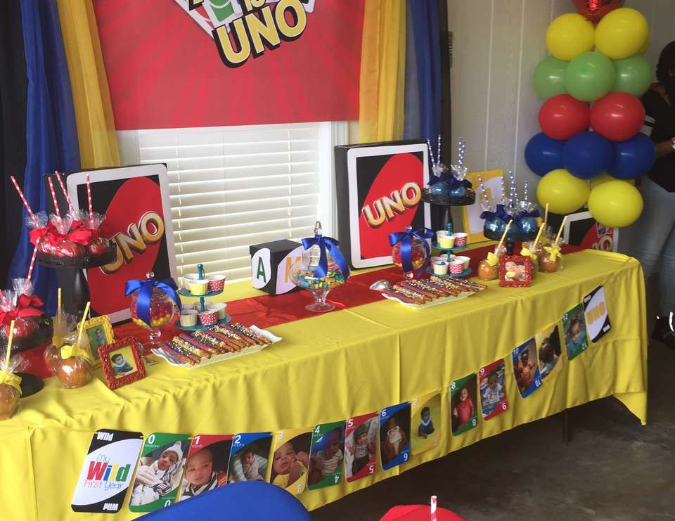 "Best ideas about Uno Birthday Party . Save or Pin Uno Card Theme Birthday ""Amir is Uno"" Now."