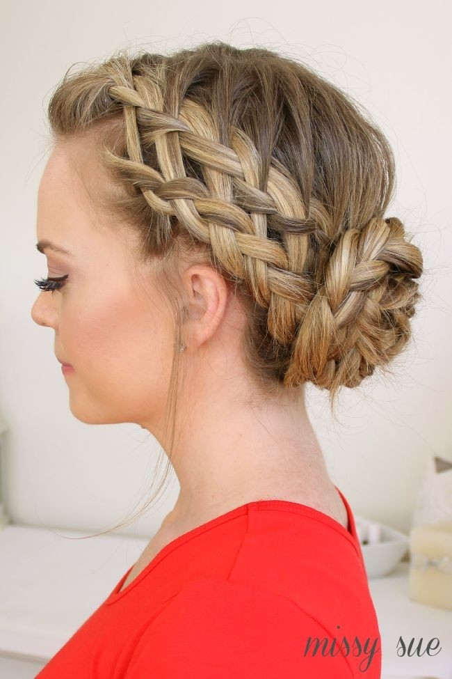 Best ideas about Updo Hairstyle . Save or Pin 20 Pretty Braided Updo Hairstyles PoPular Haircuts Now.