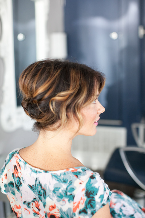 Best ideas about Updo Hairstyles For Short Hair . Save or Pin Pretty Simple Updo for Short Hair Camille Styles Now.