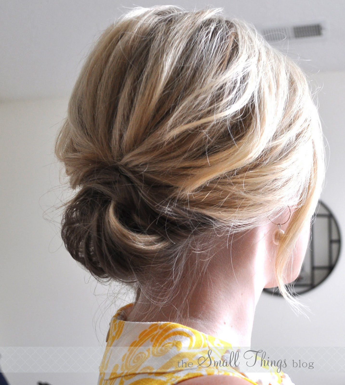 Best ideas about Updo Hairstyles For Short Hair . Save or Pin The Chic Updo – The Small Things Blog Now.