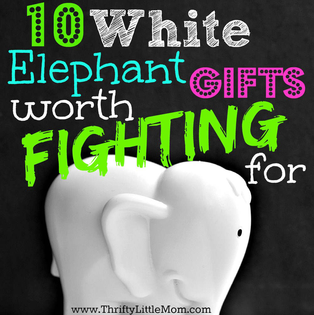 Best ideas about Useful White Elephant Gift Ideas . Save or Pin White Elephant Gifts Worth Fighting For Thrifty Little Mom Now.