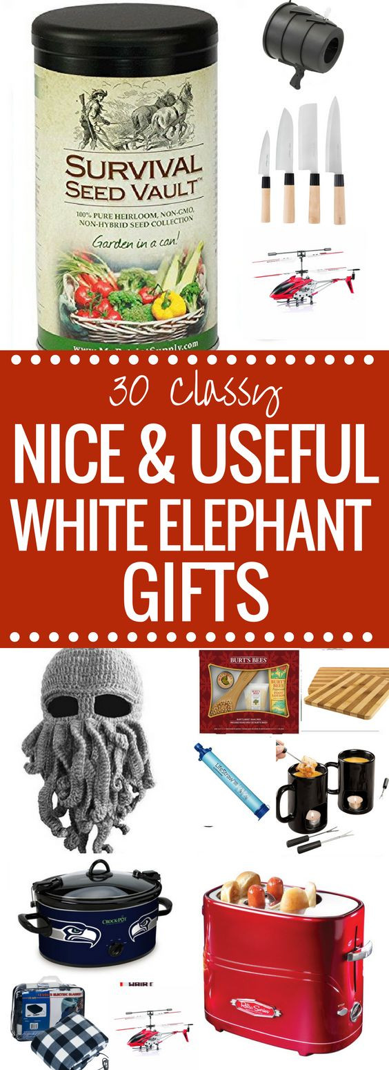 Best ideas about Useful White Elephant Gift Ideas . Save or Pin Need a NICE or Useful White Elephant Gift Idea Nothing Now.