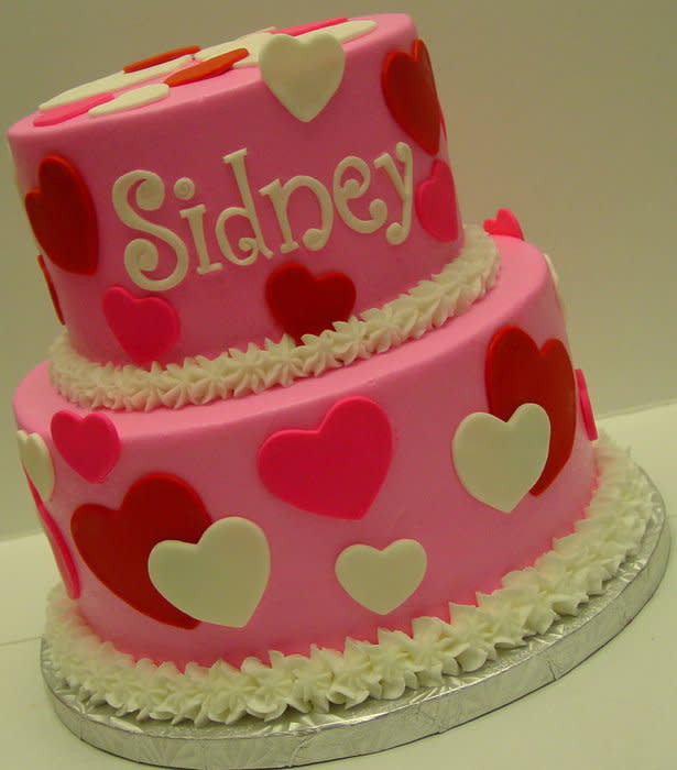 Best ideas about Valentine Birthday Cake . Save or Pin Happy 1st Birthday Valentine cake by Stephanie Dill Now.