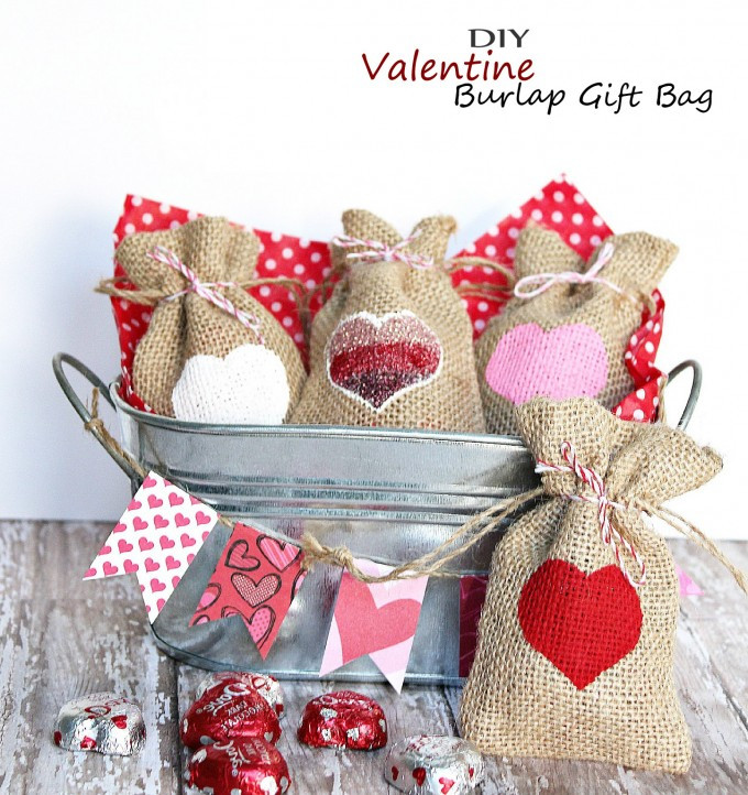 Best ideas about Valentine Gift Bags Ideas . Save or Pin Valentine Burlap Gift Bag – Easy Homemade Holiday Kid Now.