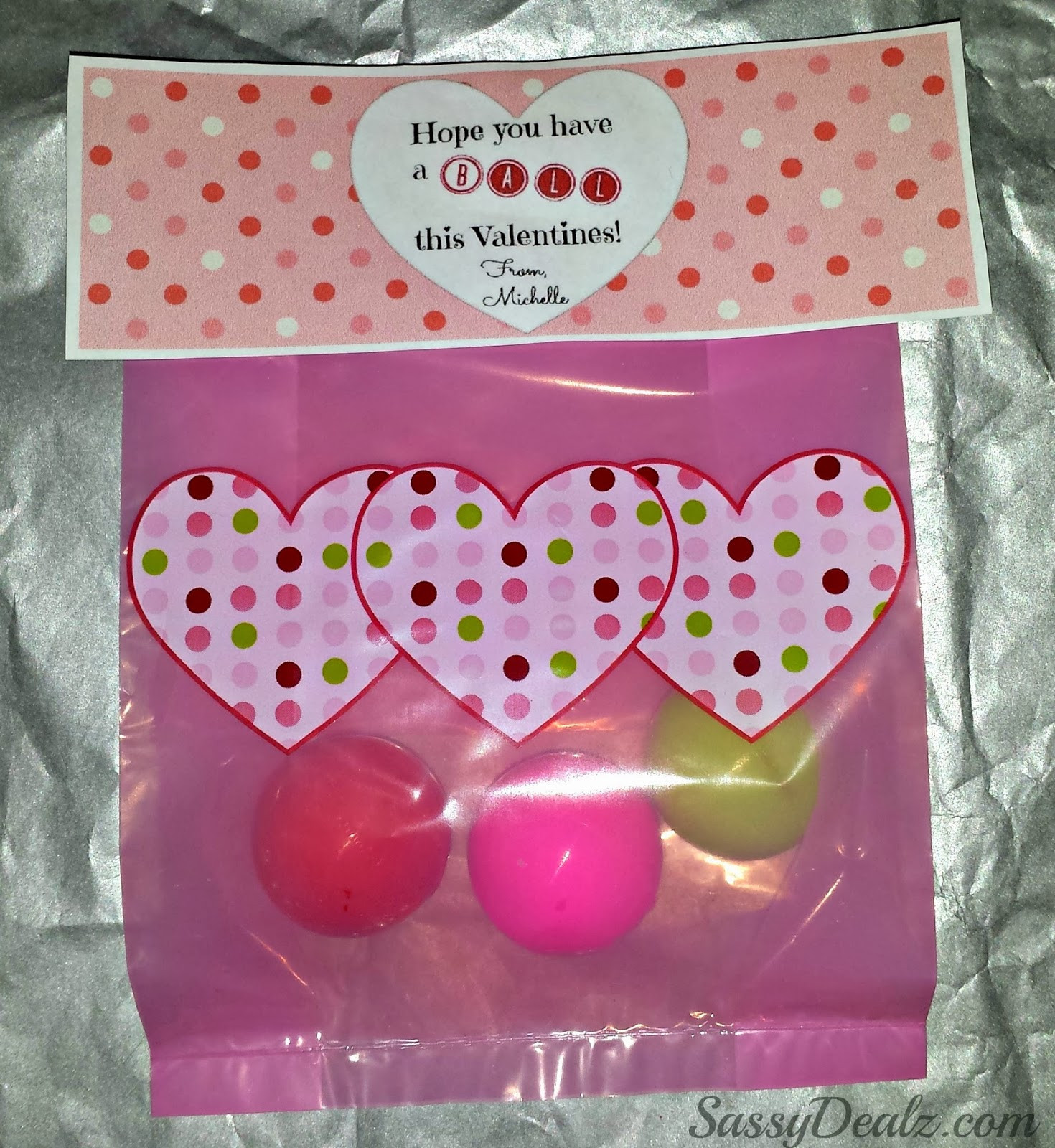 Best ideas about Valentine Gift Bags Ideas . Save or Pin DIY Valentine s Day Bouncy Ball Gift Bag Idea Crafty Morning Now.