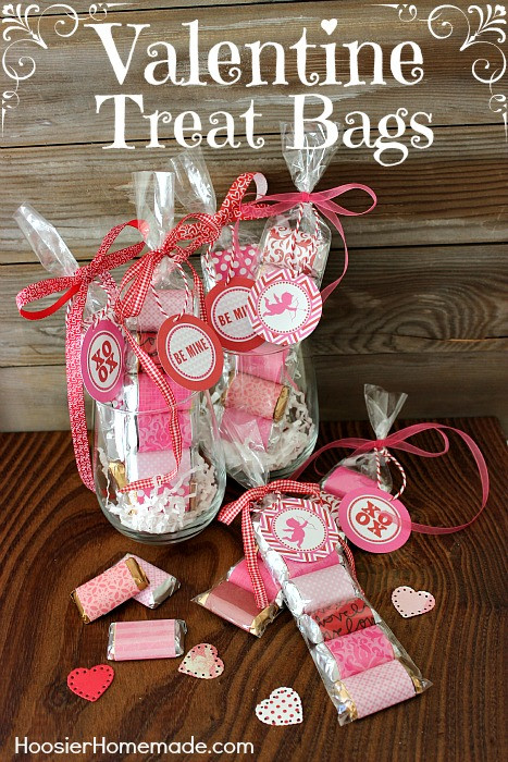 Best ideas about Valentine Gift Bags Ideas . Save or Pin 33 Homemade Valentines & Treat Bag Ideas Nest of Posies Now.