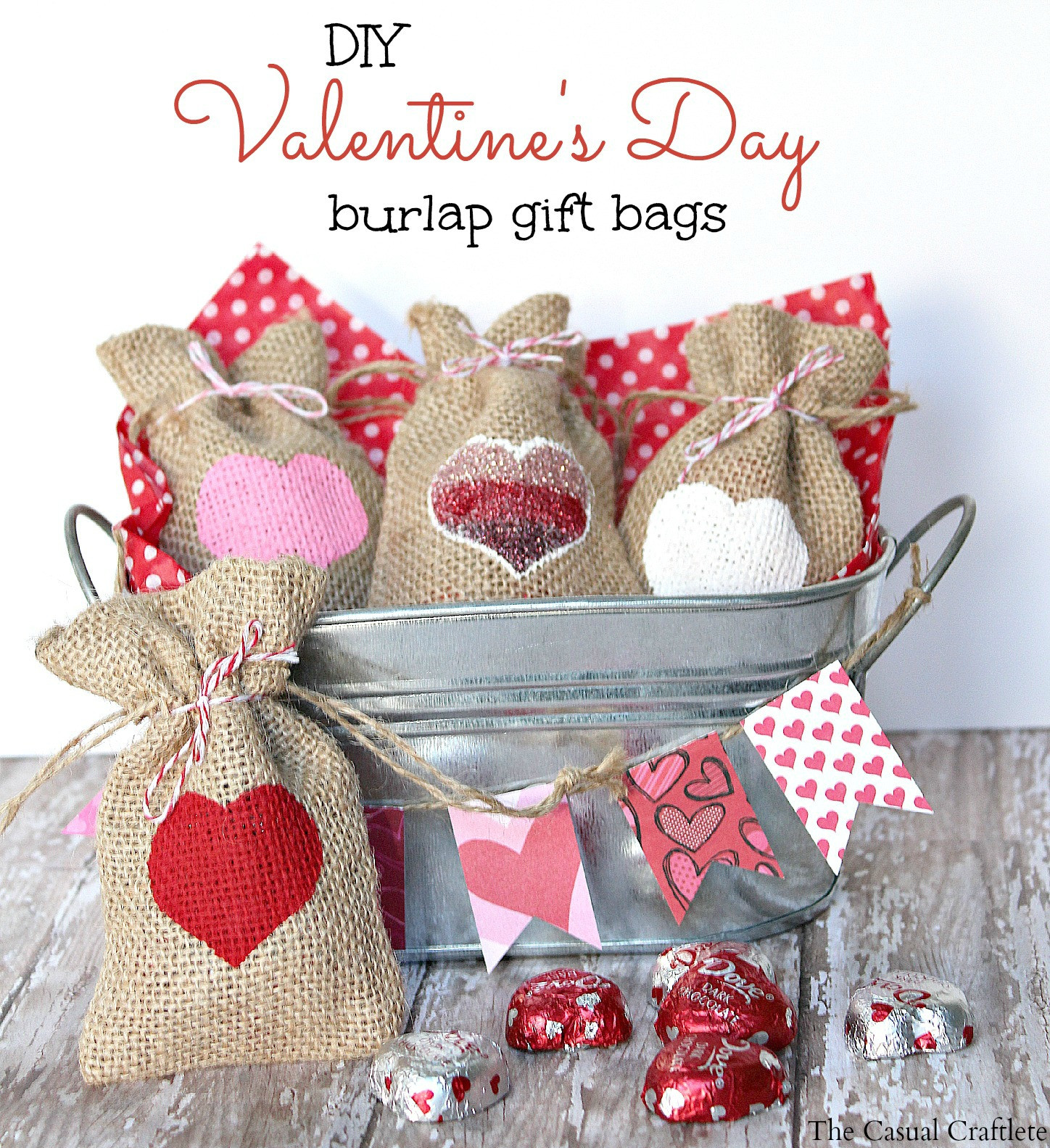 Best ideas about Valentine Gift Bags Ideas . Save or Pin Valentine s Day Gift Bags Archives The Casual Craftlete Now.