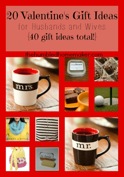 Best ideas about Valentine Gift Ideas For Husband . Save or Pin 20 Valentine s Day Gift Ideas for Husbands and Wives 40 Now.