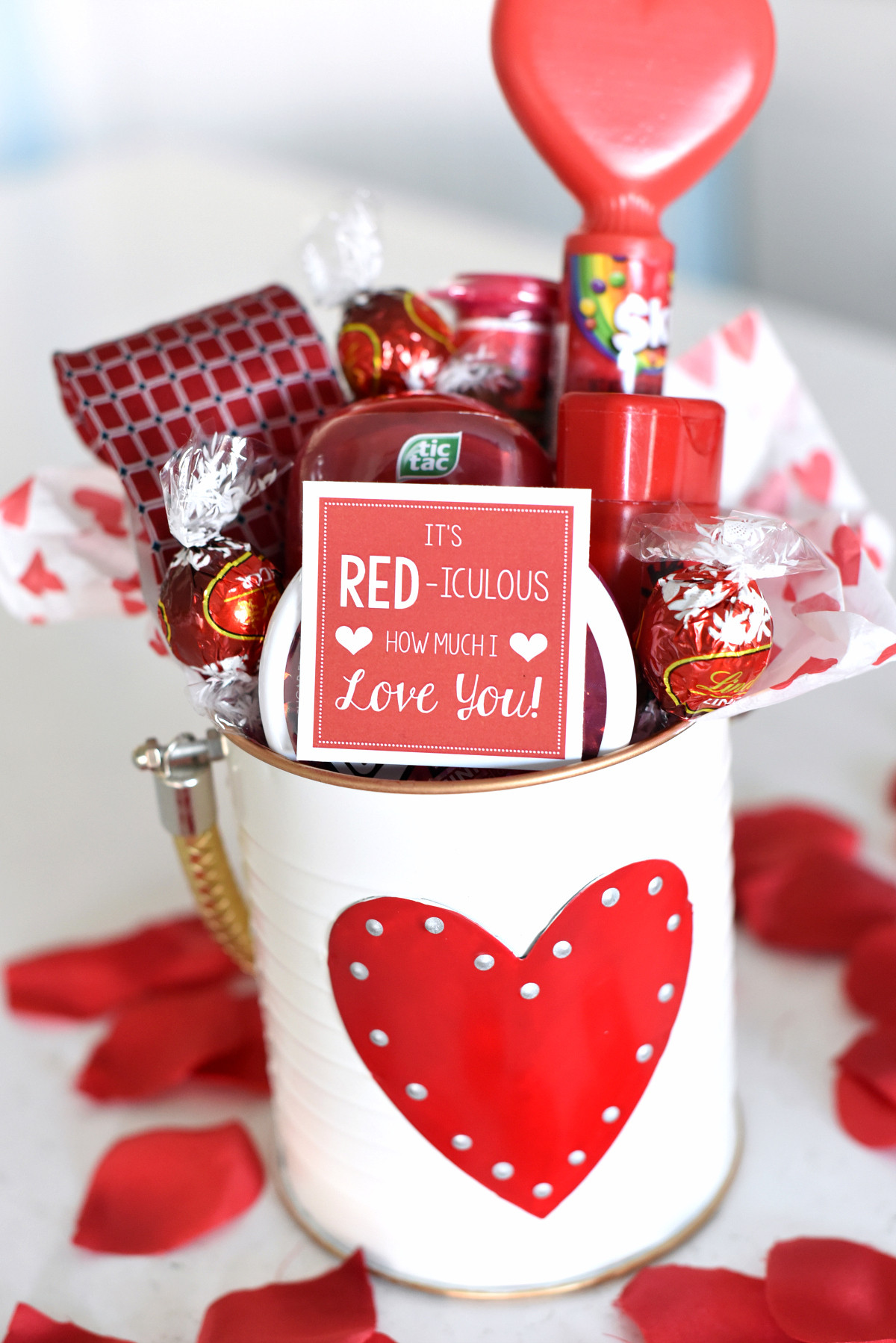 Best ideas about Valentine Gift Ideas For Husband . Save or Pin Cute Valentine s Day Gift Idea RED iculous Basket Now.