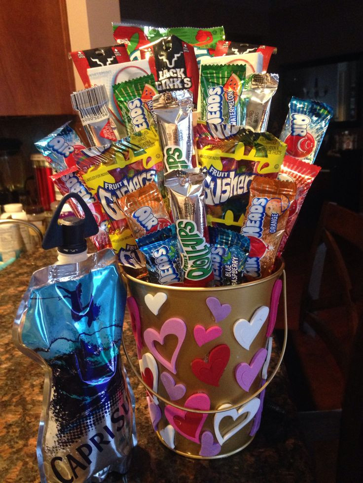 Best ideas about Valentine'S Day Gift Basket Ideas . Save or Pin My boyfriends candy basket for valentines day ️ Now.