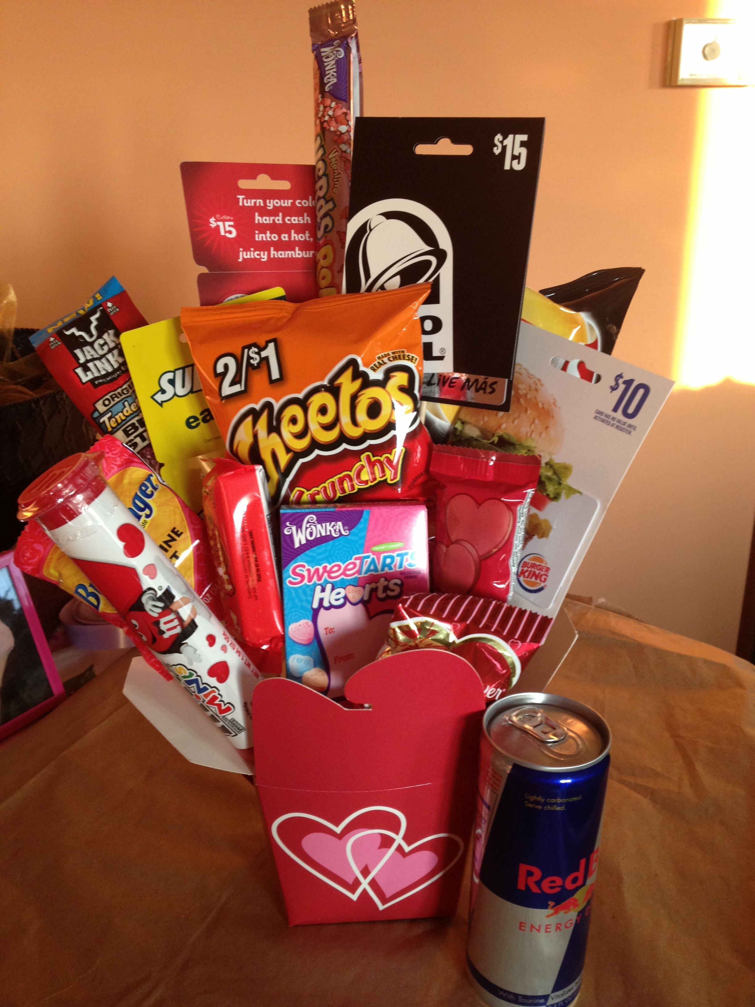 Best ideas about Valentine'S Day Gift Basket Ideas . Save or Pin Perfect valentines day t for the boyfriend Now.