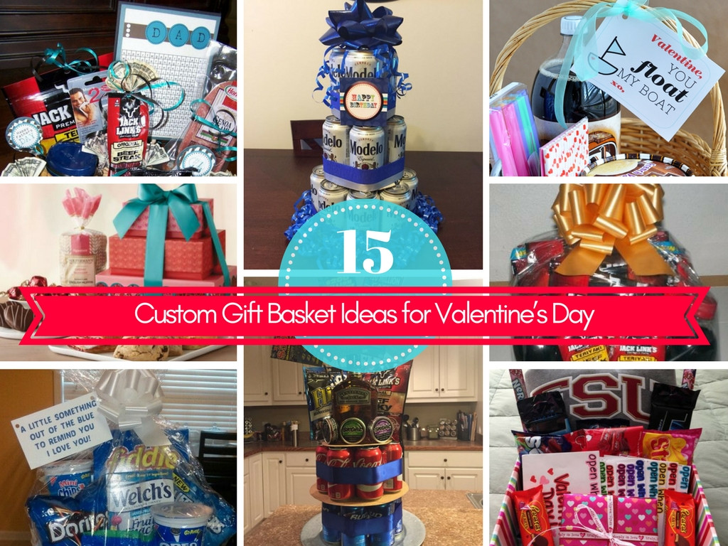 Best ideas about Valentine'S Day Gift Basket Ideas . Save or Pin 15 Custom Gift Basket Ideas for Valentine's Day Now.