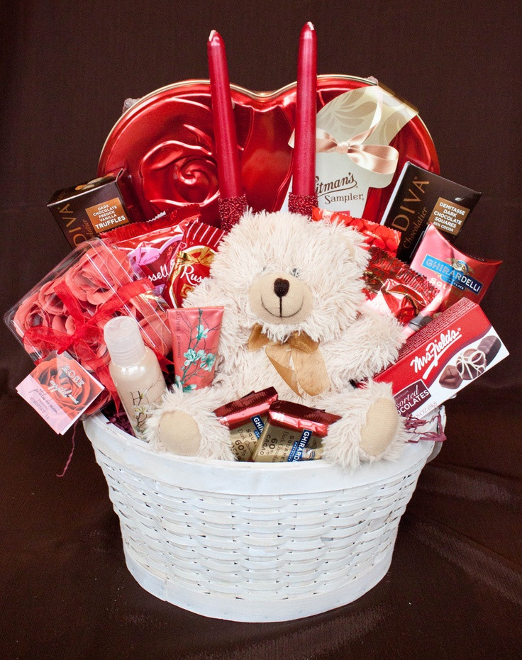 Best ideas about Valentine'S Day Gift Basket Ideas . Save or Pin 25 best ideas about Valentine baskets on Pinterest Now.