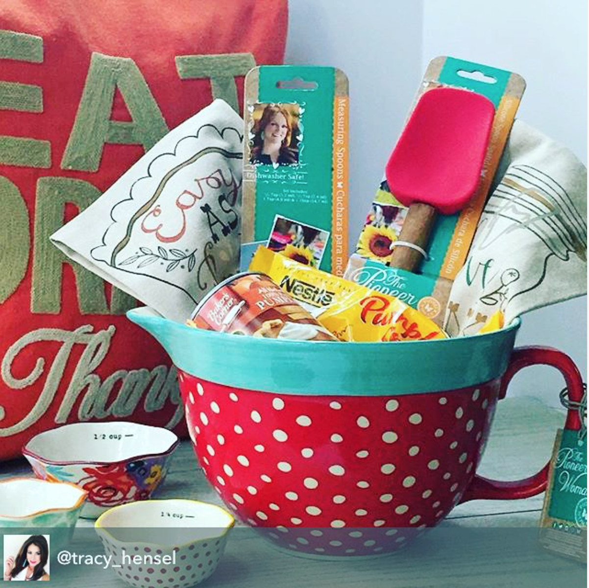 Best ideas about Valentine'S Day Gift Basket Ideas . Save or Pin Great t idea featuring the new Pioneer Woman mixing Now.