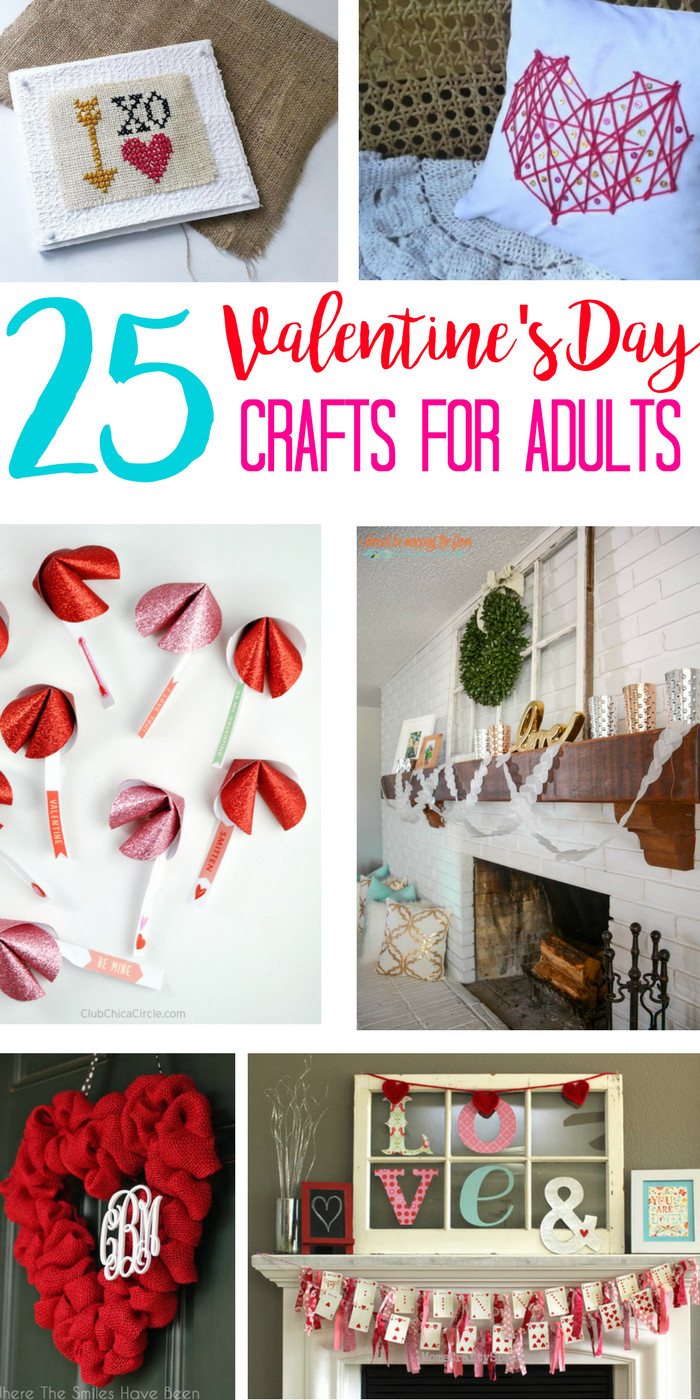 Best ideas about Valentines Craft Ideas For Adults . Save or Pin Valentine Crafts for Adults Why Should Kids Have All the Now.