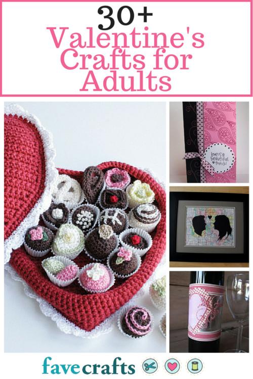 Best ideas about Valentines Craft Ideas For Adults . Save or Pin 36 Valentine Crafts for Adults Making Valentine Crafts Now.