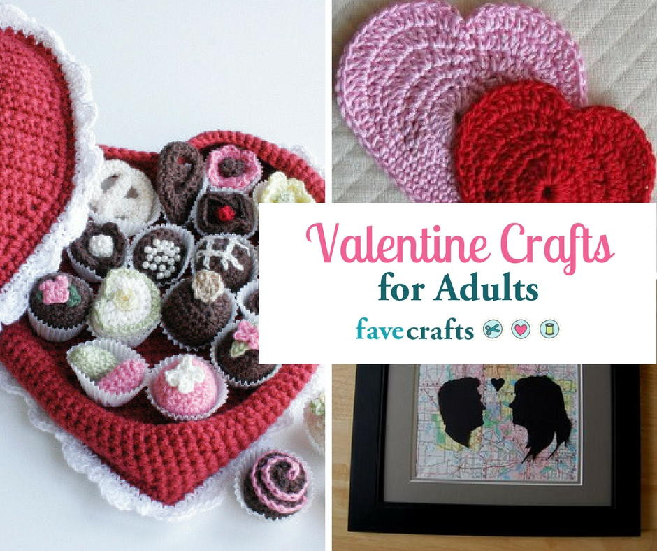 Best ideas about Valentines Craft Ideas For Adults . Save or Pin 40 Valentine Crafts for Adults Now.