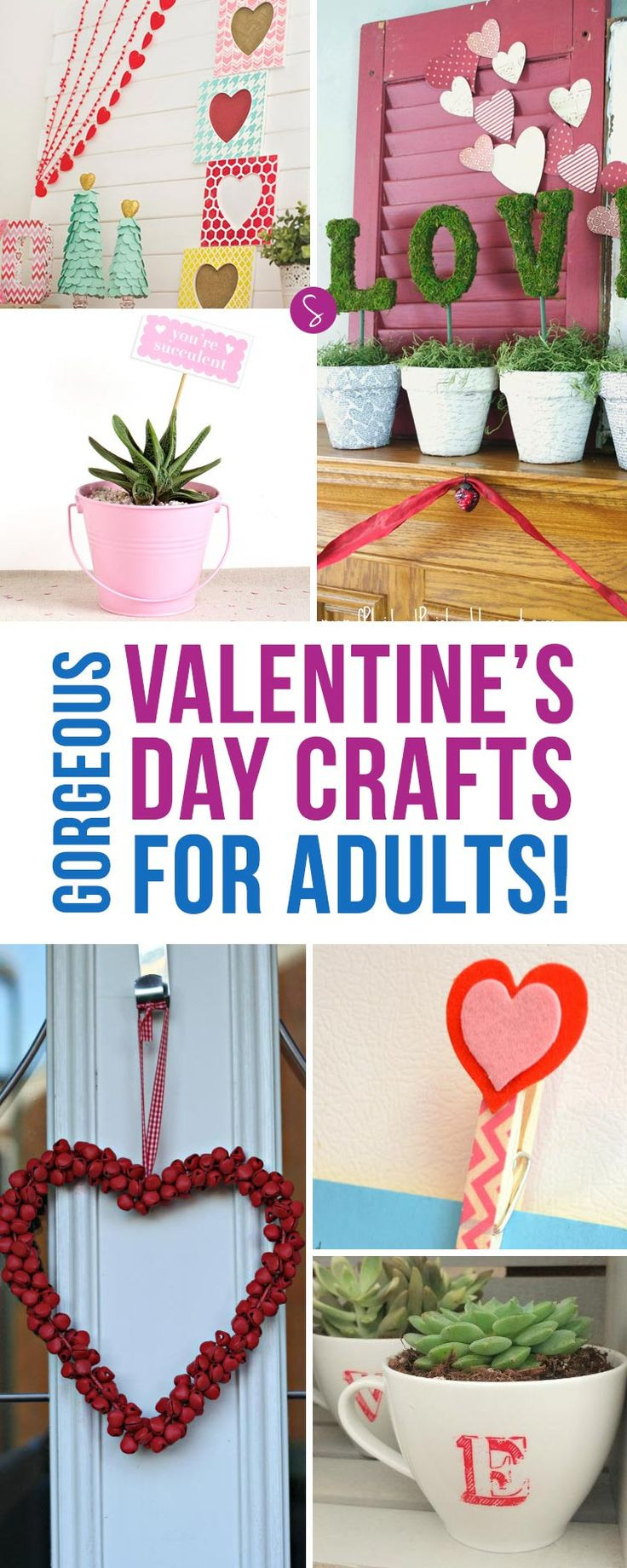 Best ideas about Valentines Craft Ideas For Adults . Save or Pin 194 best images about Valentines Crafts on Pinterest Now.
