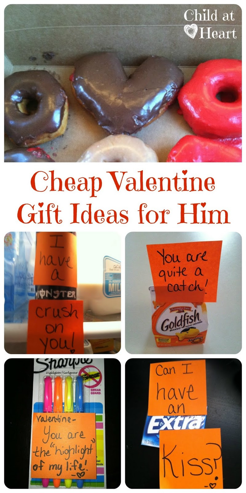 Best ideas about Valentines Day Gift Ideas For Boyfriend . Save or Pin Cheap Valentine Gift Ideas for Him Child at Heart Blog Now.
