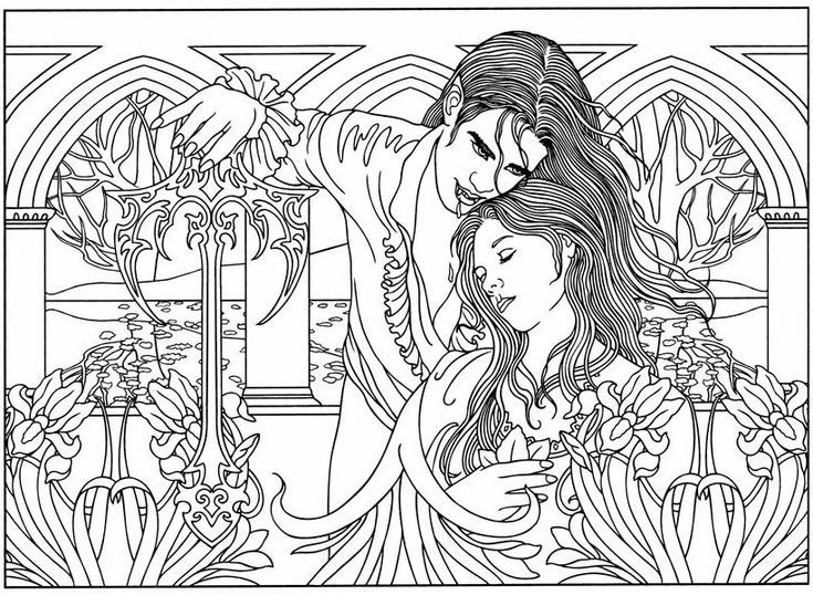 Best ideas about Vampire Coloring Pages For Adults . Save or Pin 78 Best images about Coloriage VAMPIRE on Pinterest Now.