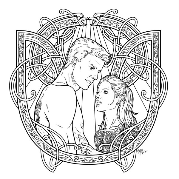 Best ideas about Vampire Coloring Pages For Adults . Save or Pin Buffy the Vampire Slayer Adult Coloring Book Profile Now.
