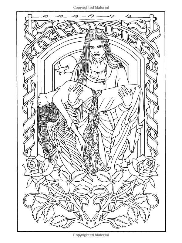 Best ideas about Vampire Coloring Pages For Adults . Save or Pin Coloring Pages Vampires Coloring Home Now.