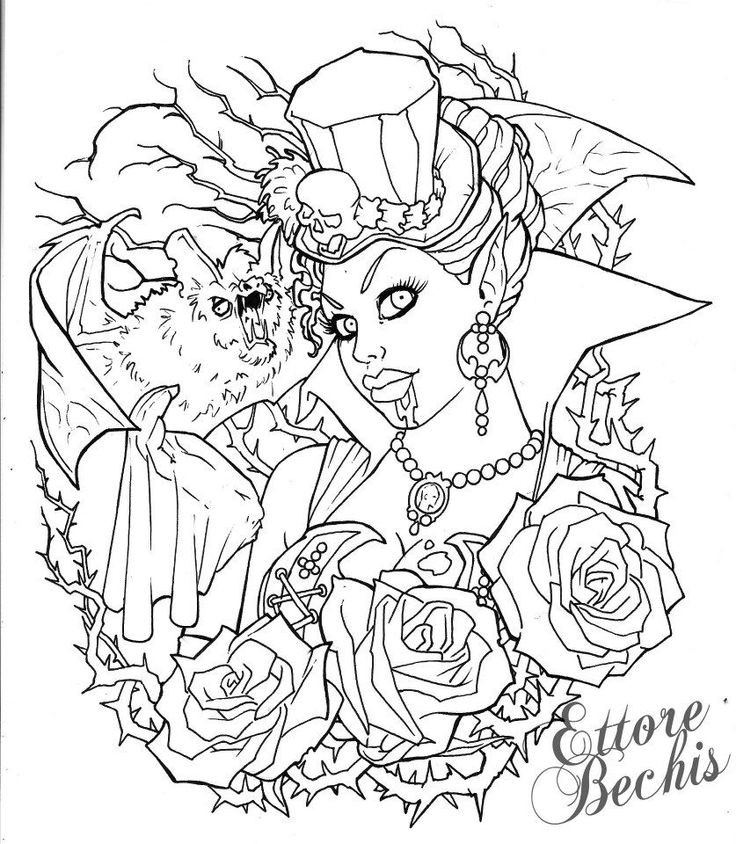 Best ideas about Vampire Coloring Pages For Adults . Save or Pin 17 Best images about Vampire coloring on Pinterest Now.