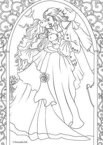 Best ideas about Vampire Coloring Pages For Adults . Save or Pin Pinterest • The world's catalog of ideas Now.
