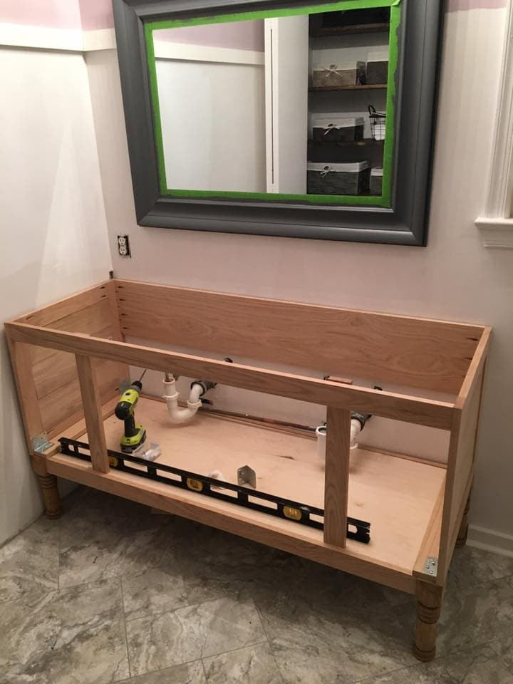 """Best ideas about Vanity Plans DIY . Save or Pin How to Build a 60"""" DIY Bathroom Vanity From Scratch Now."""