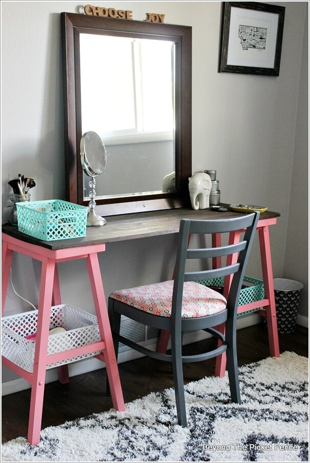 Best ideas about Vanity Plans DIY . Save or Pin 10 Cool DIY Makeup Vanity Table Ideas Now.