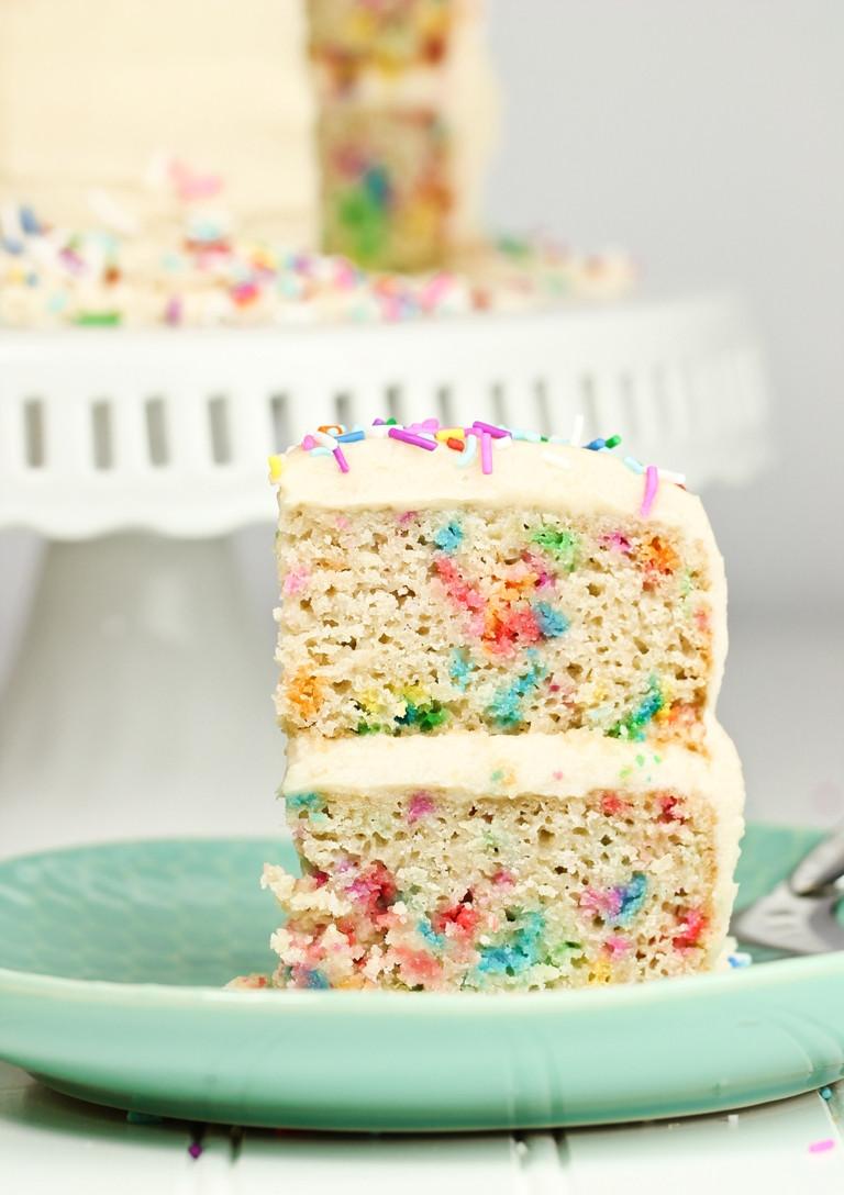 Best ideas about Vegan Birthday Cake Recipe . Save or Pin Vegan Gluten free Funfetti Birthday Cake Now.