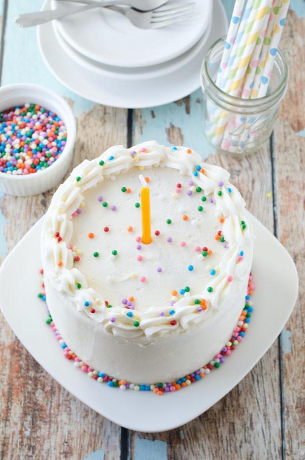 Best ideas about Vegan Birthday Cake Recipe . Save or Pin Vegan Vanilla Birthday Cake Now.