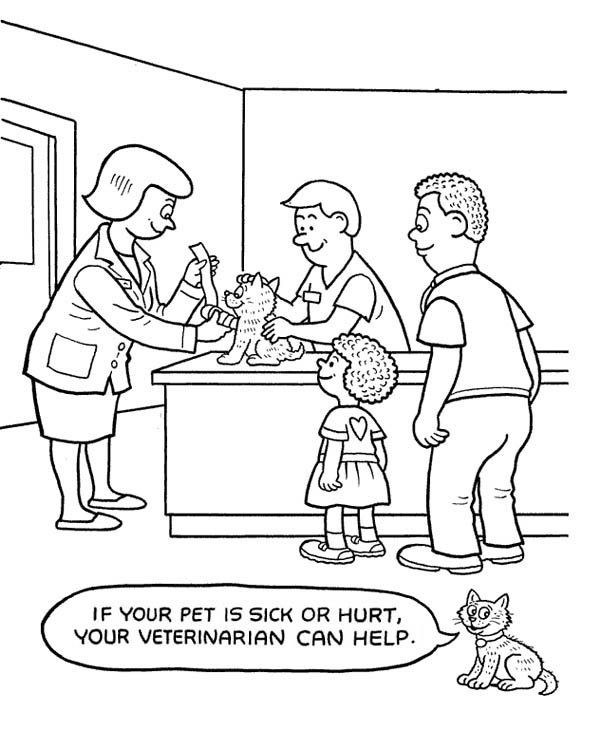 Best ideas about Veterinary Coloring Pages For Kids . Save or Pin Animal Hospital Coloring Pages Now.