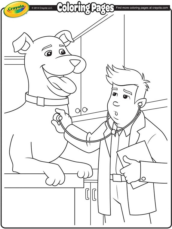 Best ideas about Veterinary Coloring Pages For Kids . Save or Pin Veterinarian Now.