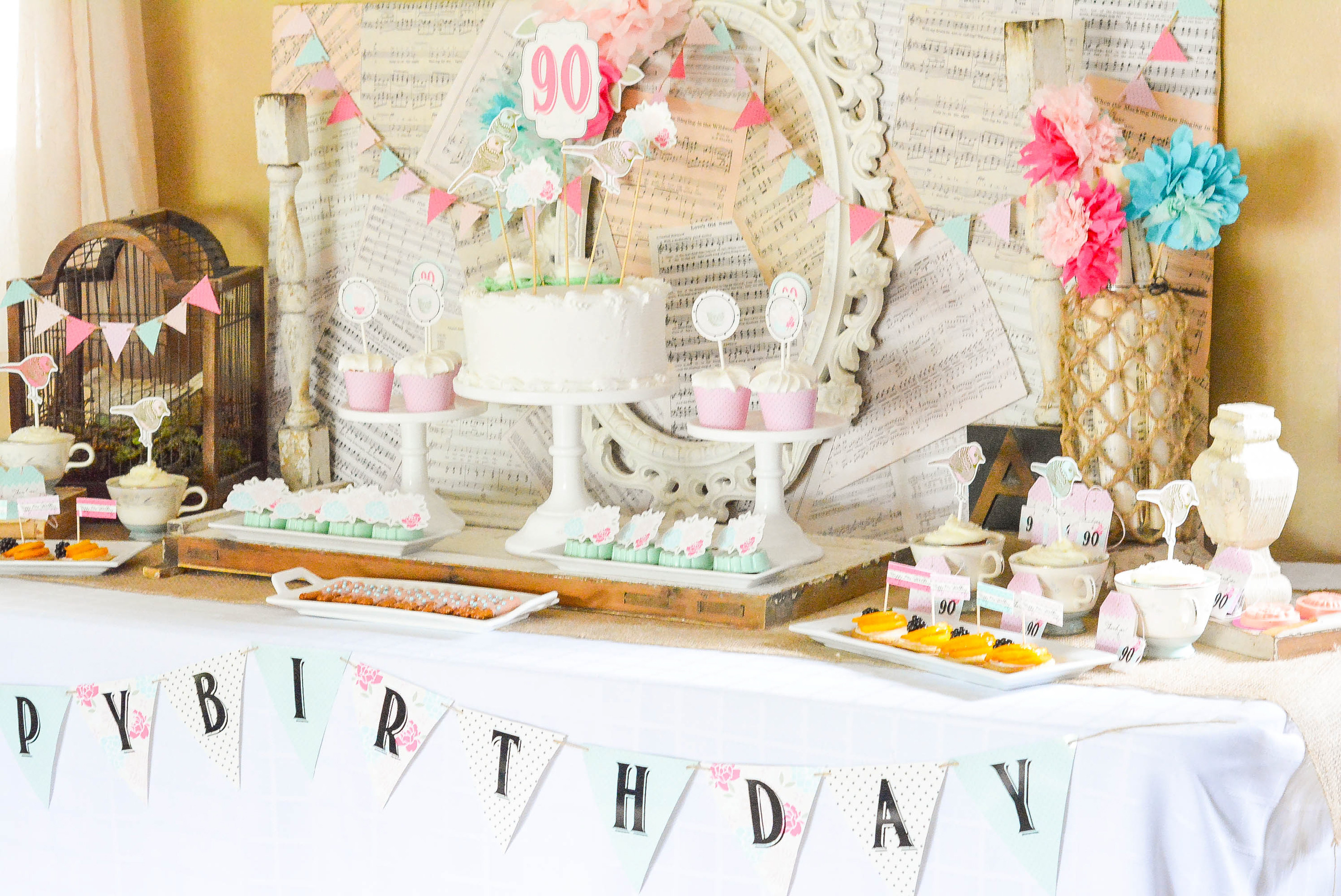 Best ideas about Vintage Birthday Party . Save or Pin A Shabby Chic Vintage Rose 90th Birthday Celebration Now.