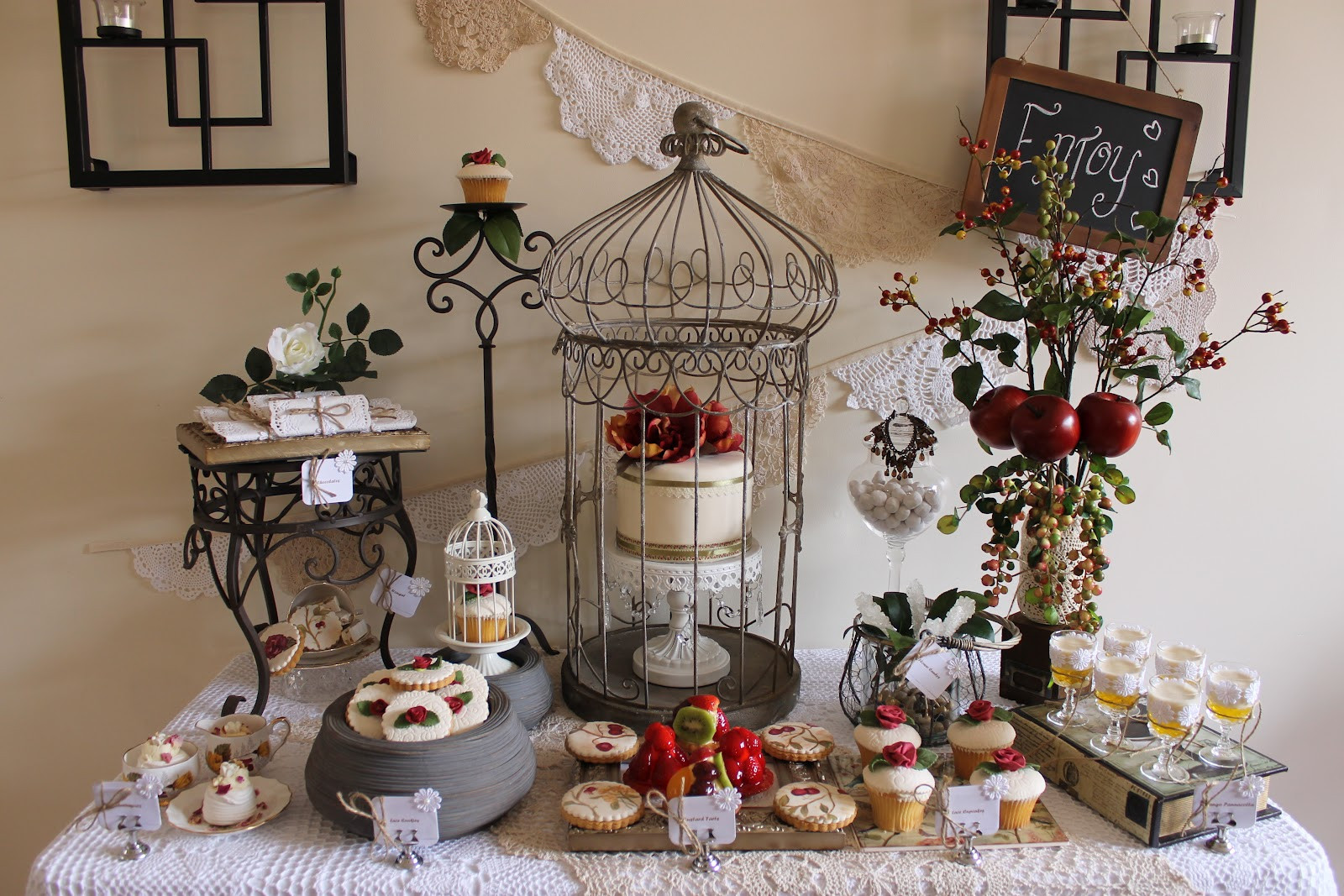 Best ideas about Vintage Birthday Party . Save or Pin Events By Nat My Vintage Rose and Doily Inspired 32nd Now.
