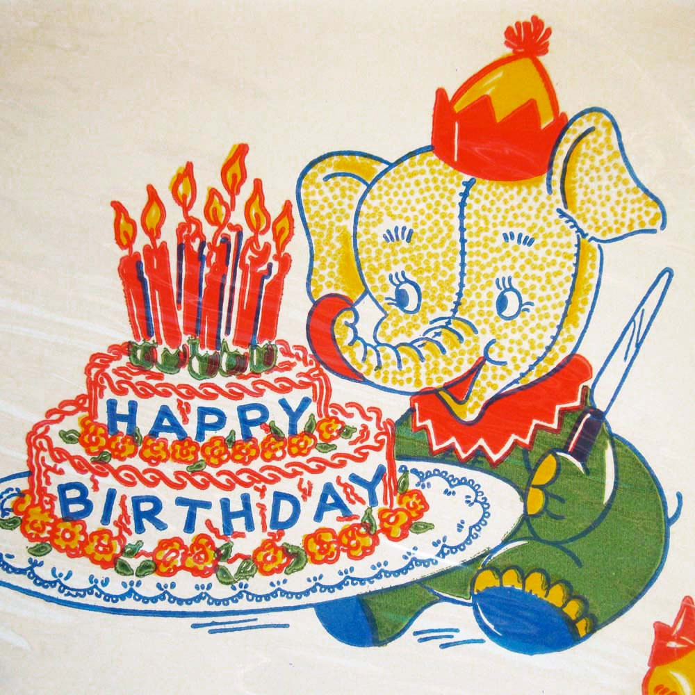 Best ideas about Vintage Birthday Party . Save or Pin 6 Vintage Birthday Party Paper Plates Sealed in Original Now.