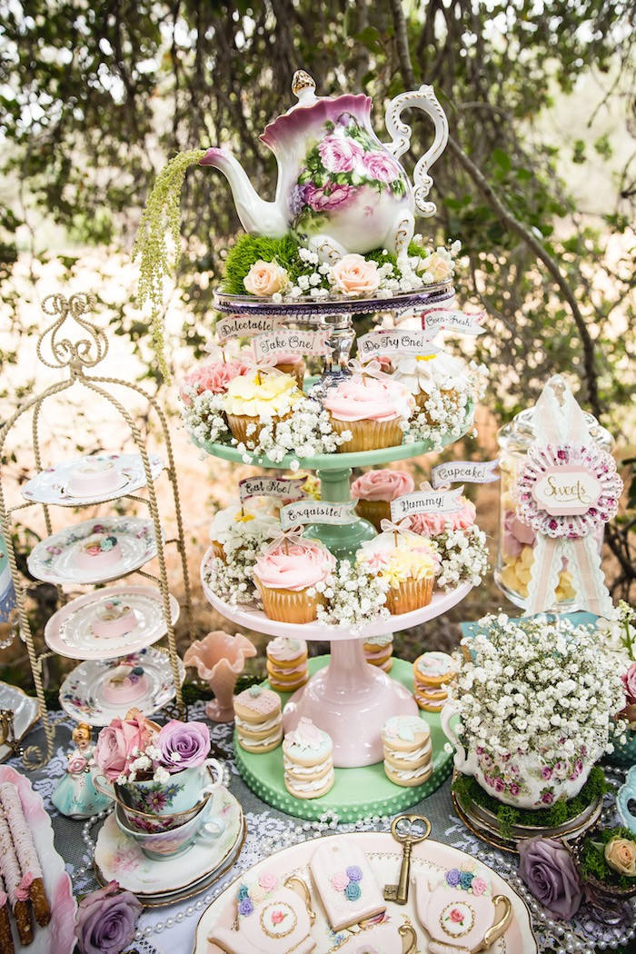 Best ideas about Vintage Birthday Party . Save or Pin Kara s Party Ideas Vintage Tea Party Now.